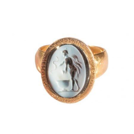 Anello Cammeo fine 1800 oro antico