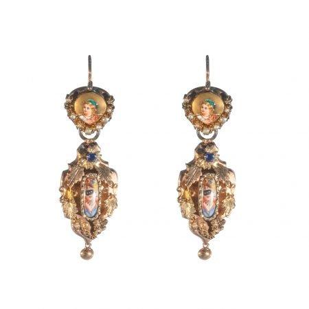 Orecchini del 1800 con miniature