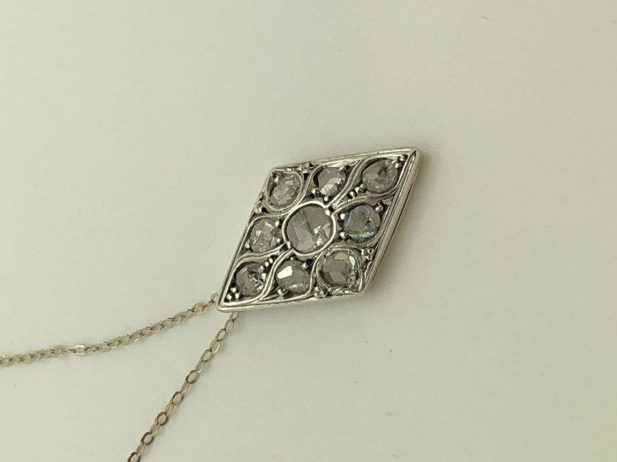 Liberty Pendant Necklace with Diamonds