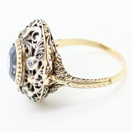 Anello Liberty oro giallo argento zaffiro e diamanti