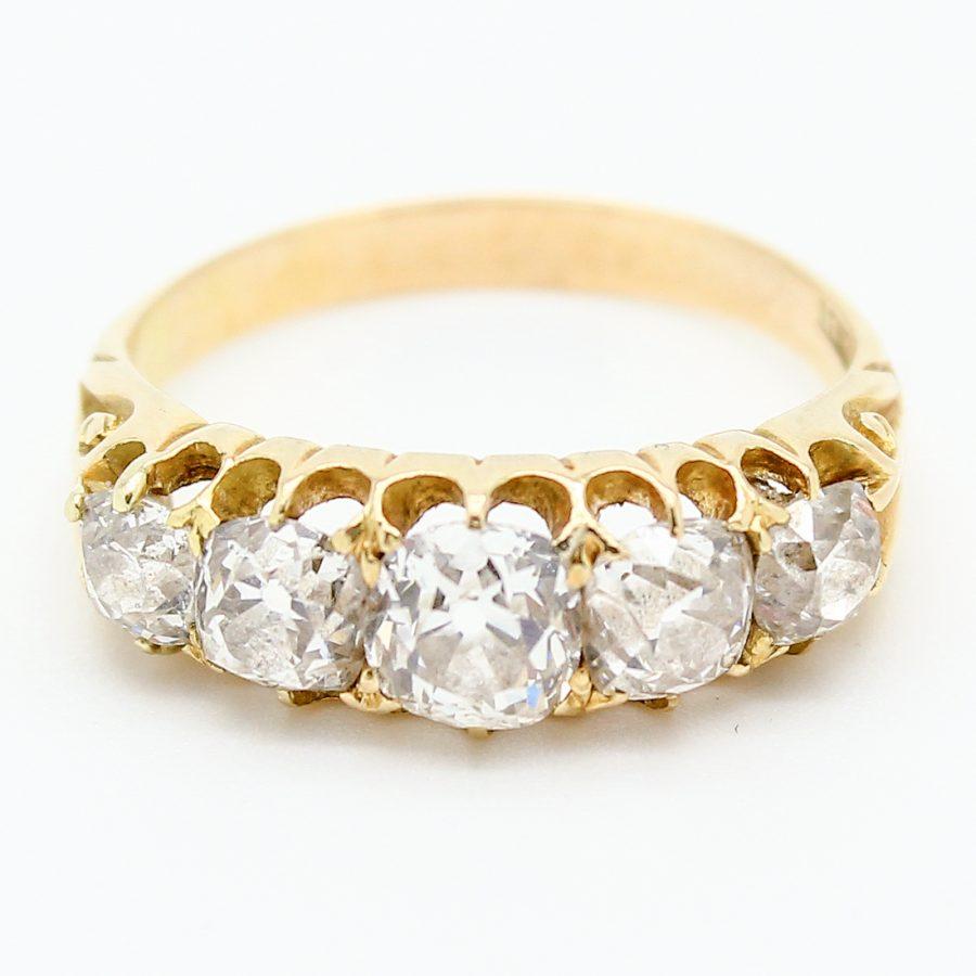 Anello Fede Vittoriana in Oro e Diamanti