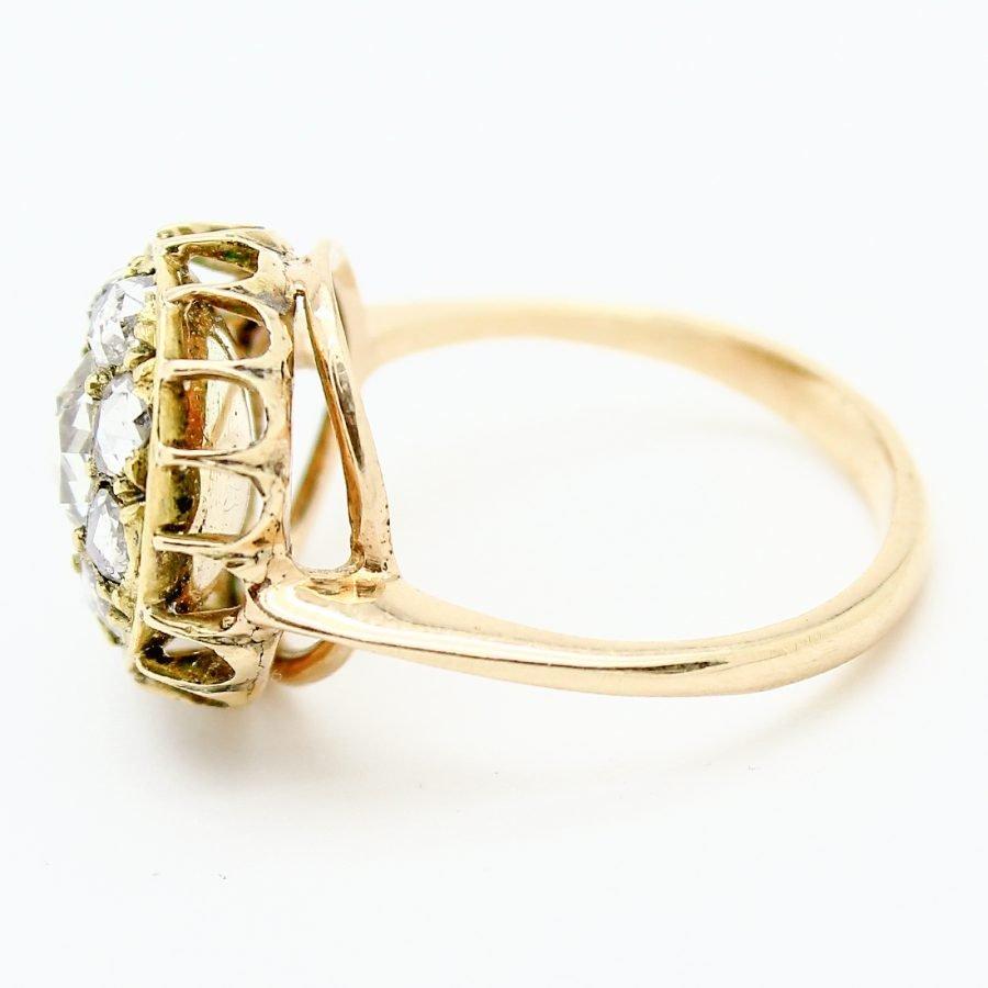Anello XIX sec in Oro e Diamanti