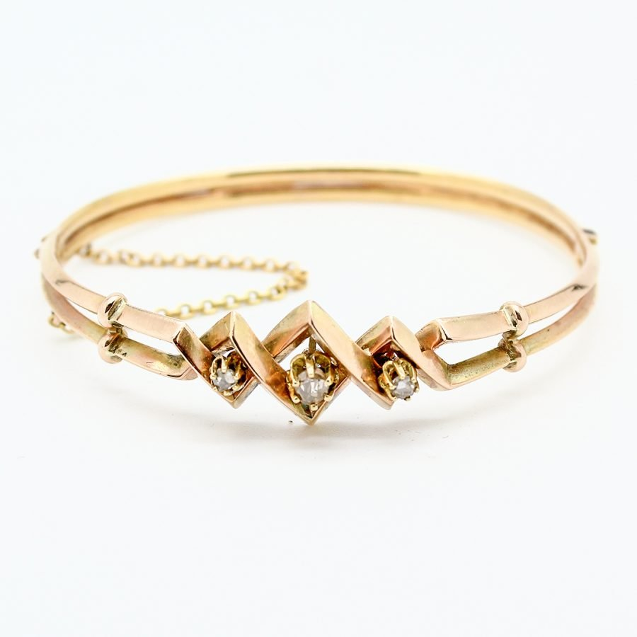 Bracciale Borbonico del 1800 in Oro e Diamanti