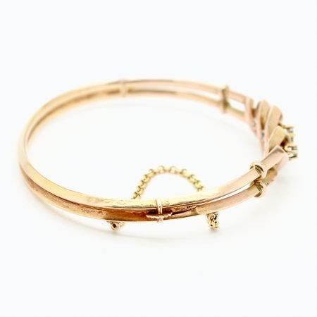 Bracciale Borbonico del 1800 in oro e diamanti taglio a rosa