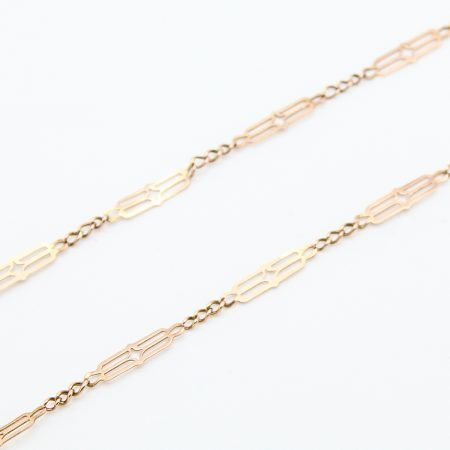 Collana Borbonica in oro con maglie a forma di losanga
