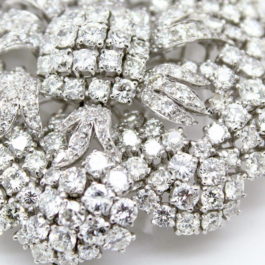 Spilla anni '60 a Fiore con Diamanti
