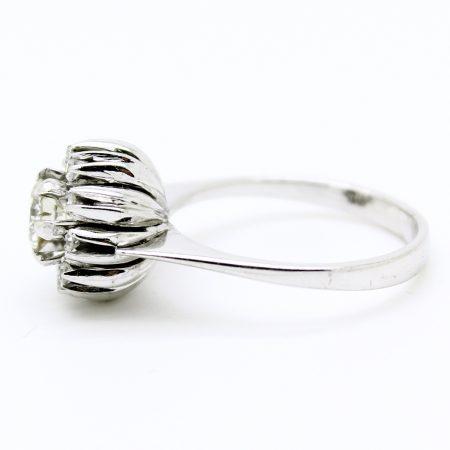 Anello vintage anni '60 in oro bianco e diamanti