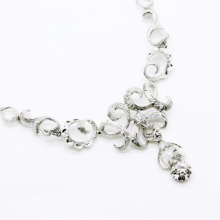 Collier vintage anni '60 ni oro bianco 18kt e diamanti