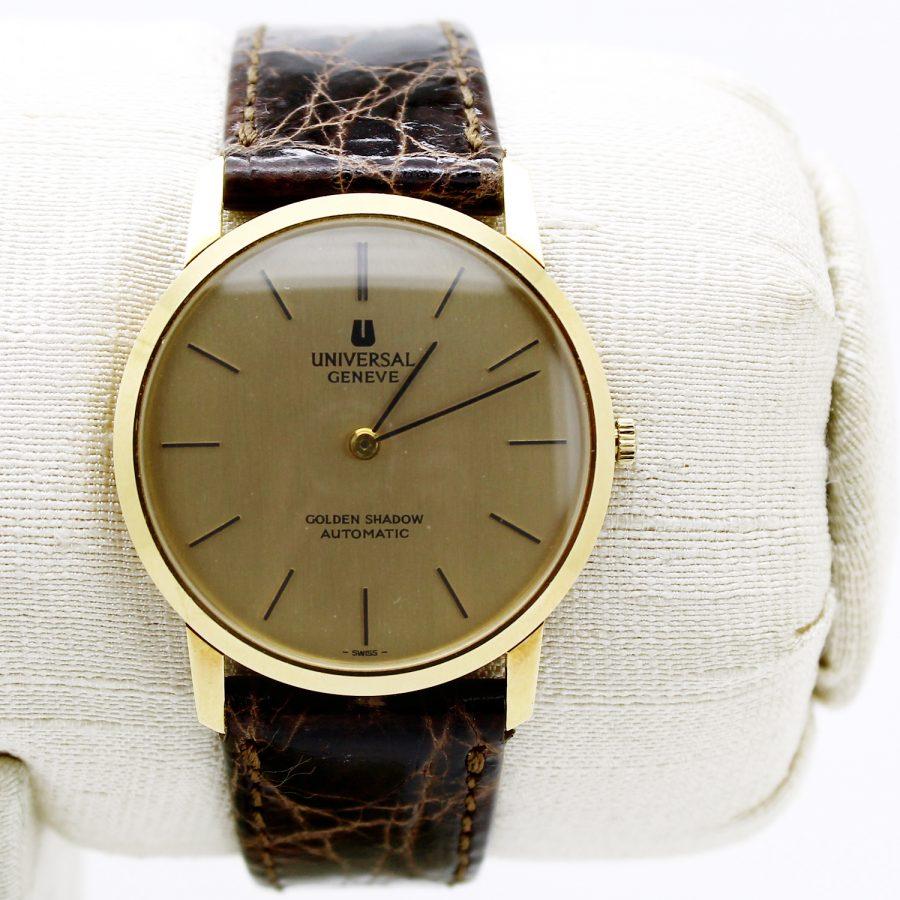 Orologio vintage Universal Geneve modello Golden Shadow cassa in oro rosa movimento automatico